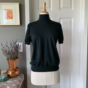 Chanel silk cashmere short sleeve sweater 1501